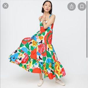 NWT J. crew Maxi Dress Ratti Jardin Floral size 2